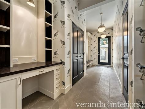 Veranda Interiors by Desk In Mudroom Contemporary Laundry Room Veranda