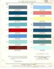 1956 Chevrolet Colors Paint Chips 1956 Buick
