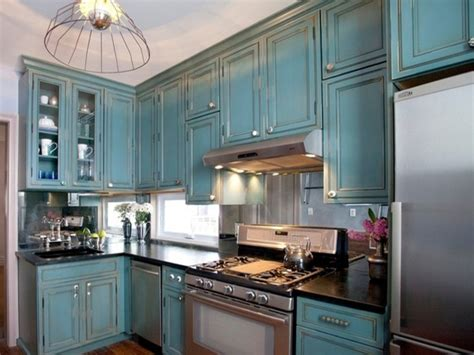 Painting Kitchen Cabinets Blue Inspiring Blue Painted Kitchen Design Ideas Images Inspirations Dievoon