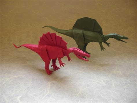 Origami Spinosaurus - spinosaurus modification by origami artist galen on deviantart