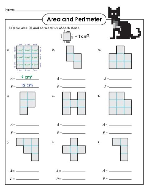 printable area and perimeter quiz 17 meilleures id 233 es 224 propos de area and perimeter