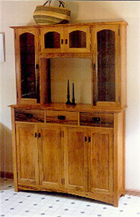 Handmade Hutches - custom handmade rustic oak china cabinet hutch by dumond s