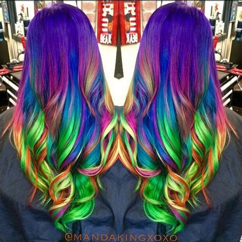 how to dye your hair neon purple 10 steps with pictures neon rainbow hair by amanda king unicorn hair mermaid