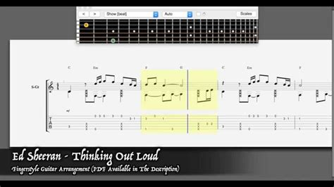 fingerstyle tutorial thinking out loud ed sheeran thinking out loud easy fingerstyle guitar