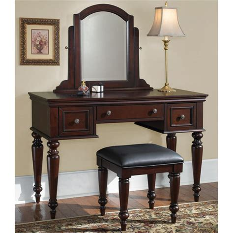 home styles lafayette vanity table mirror bench in