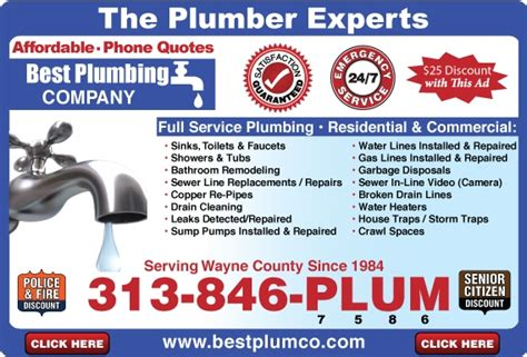 Best Plumbing Companies To Work For by Find Inkster Plumbers Plumber Inkster Mi