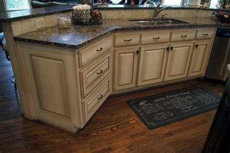 faux kitchen cabinets ccff kitchen cabinet finish ii traditional kitchen