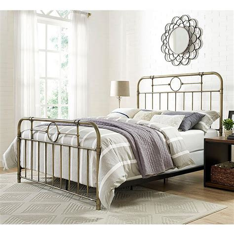 bronzing bed walker edison furniture company bronze queen bed frame