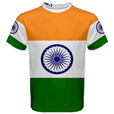 T Shirts India India Indian Flag Sublimated Sublimation T Shirt S M L Xl