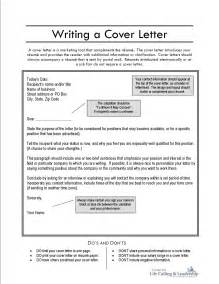 writing a covering letter cover letter sles