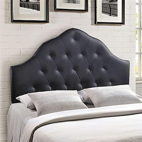 vinyl tufted headboard modway sovereign vinyl tufted headboard bed bath beyond