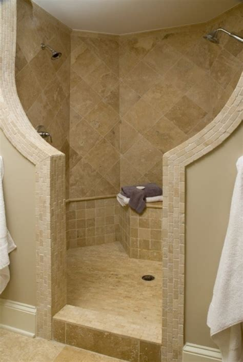 Shower Doors For Walk In Showers Walk In Showers With Seat General Contractor Home