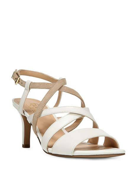 white slingback sandals franco sarto olian leather slingback sandals in white lyst