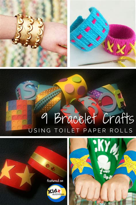 Crafts Using Toilet Paper - 9 bracelet crafts using toilet paper rolls kidz activities