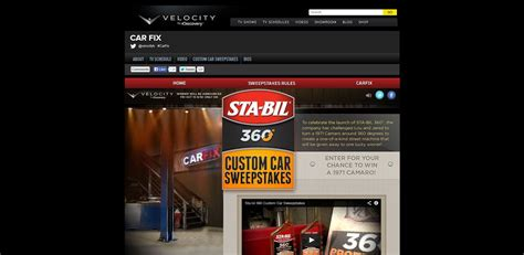 Velocity Sweepstakes - custom car sweepstakes