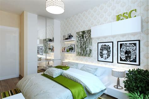 green and white bedroom green white modern bedroom interior design ideas