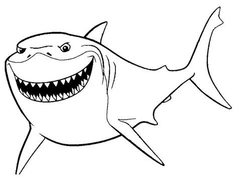 nemo shark coloring pages shark from finding nemo coloring pages printable shark