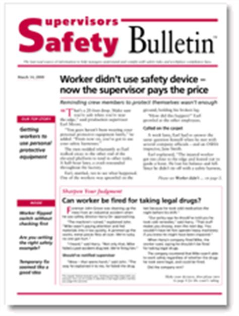safety bulletin template supervisors safety bulletin page