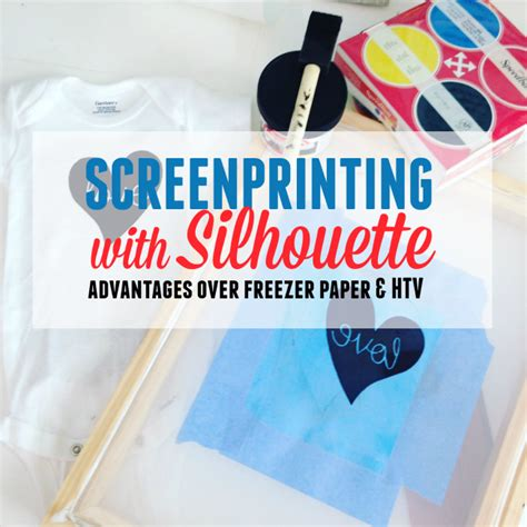 printable vinyl vs transfer paper advantages of screen printing with silhouette and vinyl