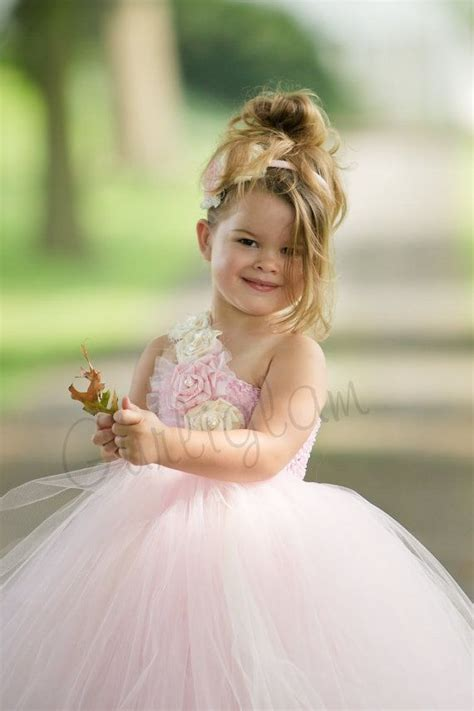 Dress Pink Tutu Flower light pink flower tutu dress flower dress tutu dresses wedding 2040960 weddbook