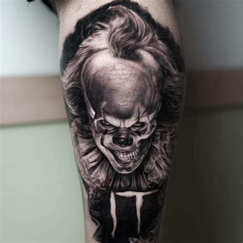 pennywise tattoo pennywise by ralf nonnweiler best tattoos