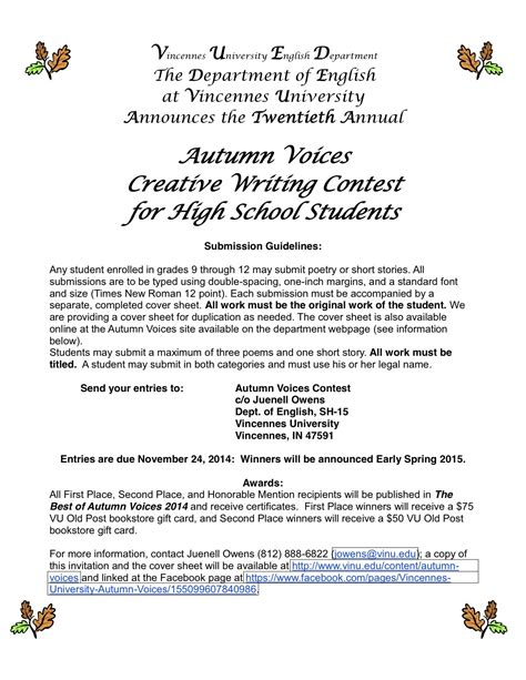 Essay Writing Contests For High School Students 2015 by Creative Writing Contests High School Students