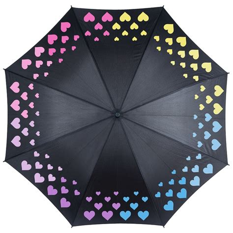 color changing umbrella colour changing umbrella hearts umbrellas b m