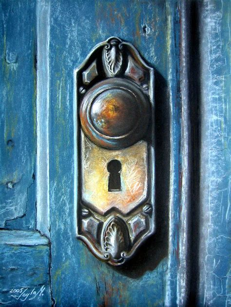 the door knob painting by leyla munteanu