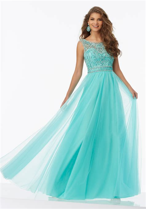beaded formal dresses soft tulle prom dress with beaded bodice style 99042