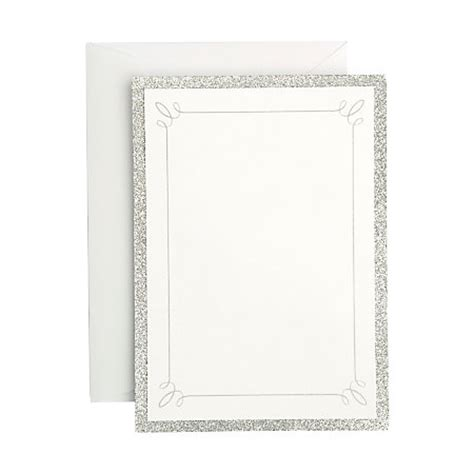 Gartner Studios Formal Invitations And Envelopes Silver Glitter Pack Of 25 By Office Depot Gartner Stationery Templates
