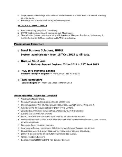 Sle Resume Of Computer Hardware Engineer Computer Hardware And Networking Engineer Resume 19 Images 10000 Cv And Resume Sles With
