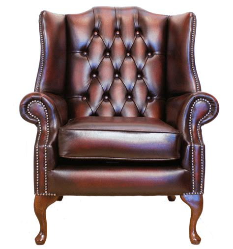 Oxblood Leather Wingback Chair » Home Design 2017