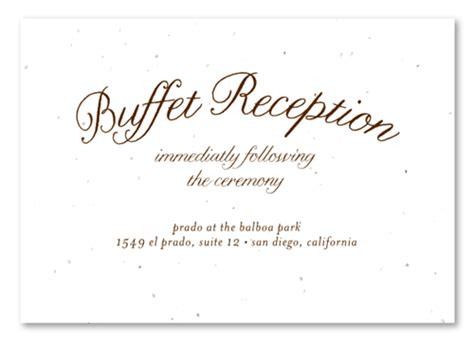 dinner response card template green wedding insert cards on plantable paper buffet