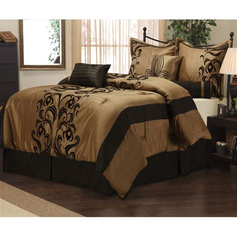 walmart bed sets king helda 7 piece bedding comforter set walmart com