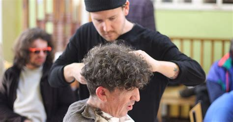 free haircuts cambridge the cambridge barber giving free haircuts to the homeless