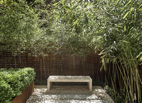 bamboo garden bench before after from quot fishbowl quot townhouse garden to