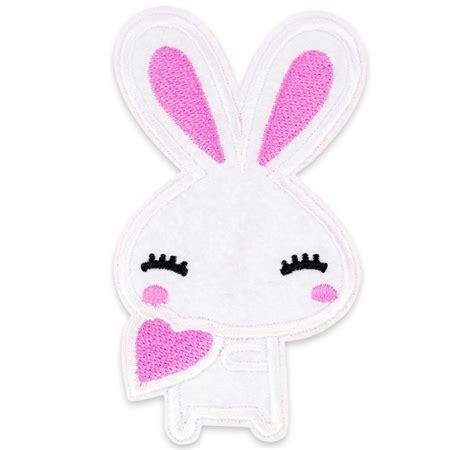 UK DIY Deco & Kawaii Craft Supplier Cute White Bunny Rabbit Kawaii Embroidered Iron/ Sew On