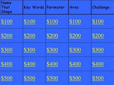 Jeopardy Games For 3rd Graders Smart Exchange Usa 3rd Free Math Jeopardy