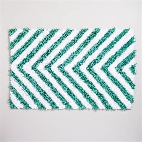 chevron bath rugs chevron chenille bath mat contemporary bath mats by cost plus world market