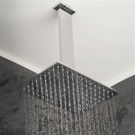 Shower Ceiling Mount by Lacava Cubista Ceiling Mount Showerhead Modern