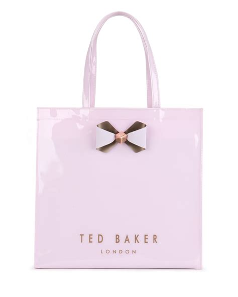 Ted Baker Shopper Bag With Bow by Lyst Ted Baker Bowicon Large Bow Trim Shopper Bag In Pink