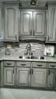 Black Glazed Kitchen Cabinets Valspar Aspen Grey And Black Glaze Painting Cabinets Countertops Gray Cabinets