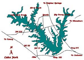 map of lake fork