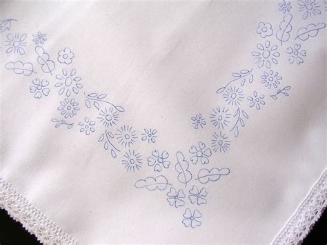embroidery design for table cloth tablecloth to embroider cotton lace edge flowers border