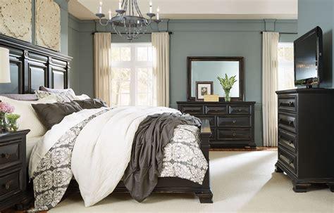 vintage black bedroom furniture passages vintage black panel bedroom set from standard