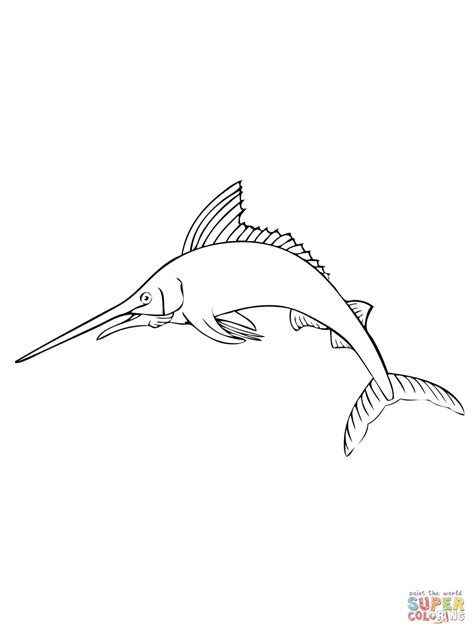 marlin fish coloring pages atlantic blue marlin coloring page free printable