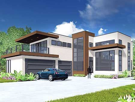 contemporary house plans plan 81647ab modern living with master suite patio house elevation modern modern