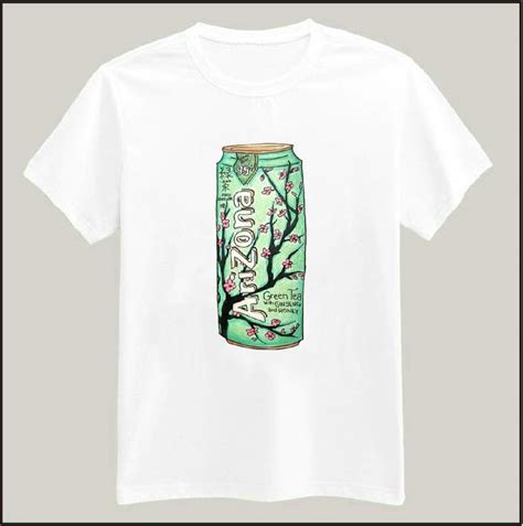 T Shirt Green Ship harajuku arizona green tea print tshirt shirt casual cotton for big top