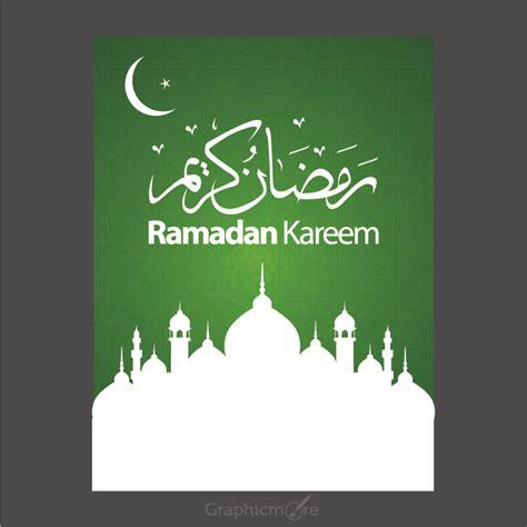 poster design vector file ramadan kareem green poster design free vector file