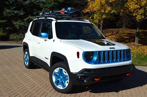 white jeep renegade moparized jeep brand vehicles sema 2014 mopar blog